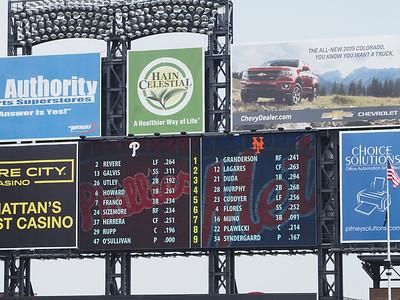 Phillies vs Mets. Mets win 7-0, May 27