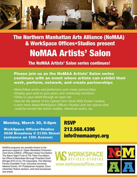 NoMAA Artists' Salon - 3/30/2009
