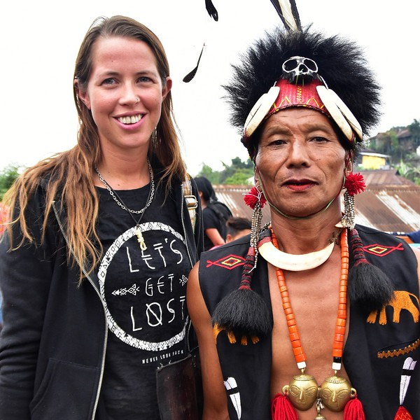with headhunters at a festival in Nagaland.jpg