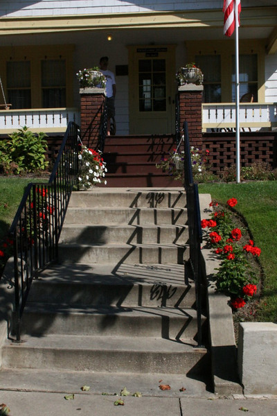 Dr. Bob's Home in Akron, Ohio. The Twelve Steps to the porch. Ironic.