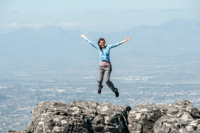 At the top of Lion's Head, Cape Town