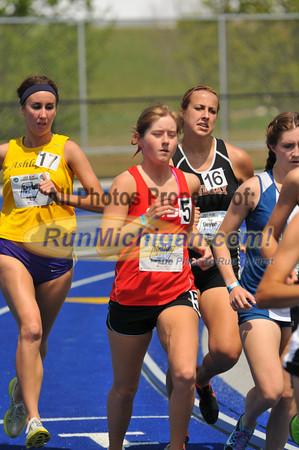 Women's 5000 Meters Final, Heat 1 - 2012 GLIAC Outdoor T&F