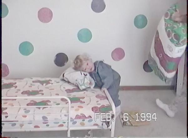 Mi in Barney Room - Feb'94