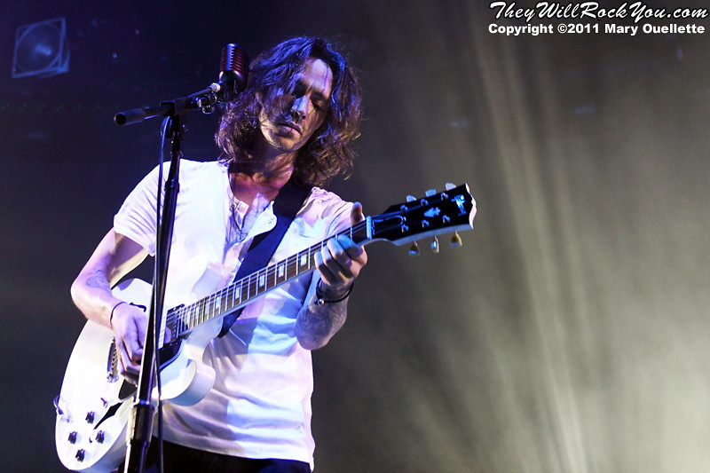 """Incubus performs on September 9, 2011 in support of """"If Not Now, When?"""" at Comcast Center in Mansfield, Massachusetts"""
