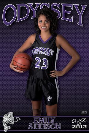 Odyssey Girls Varsity Basketball Banners 2012-2013