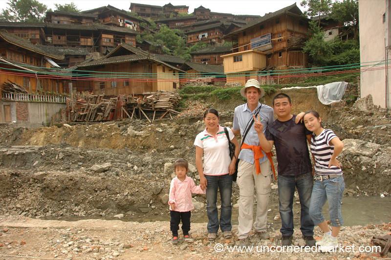 Chinese Tourists and Dan - Guizhou Province, China