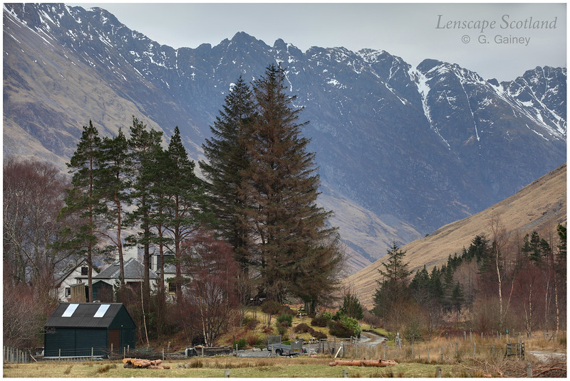 Aonach Eagach ridge from Gleann-leac-na-Muidhe