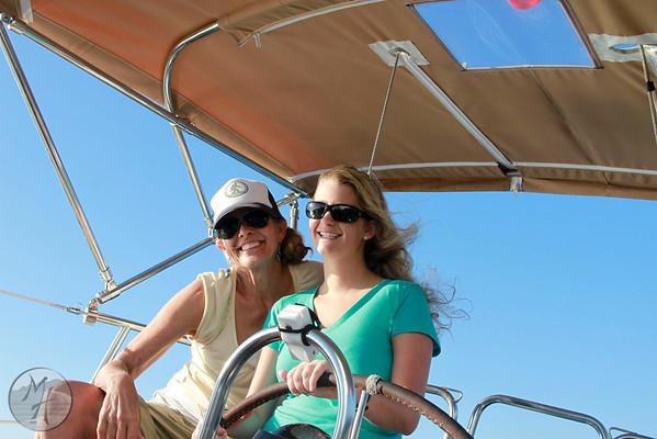 Sailing off Dana Point