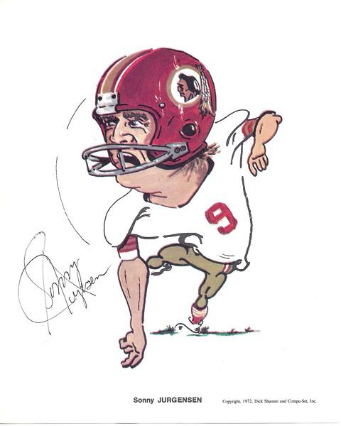 1972 Compu-Set Redskins, Sonny Jurgensen