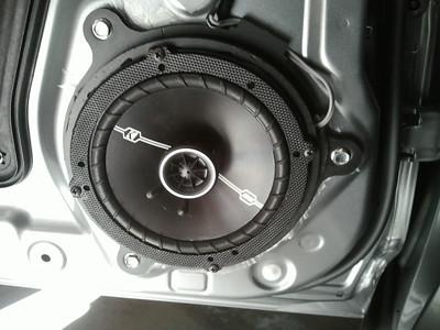 2014 Mazda 3i Touring hatchback Rear Speaker Installation - USA