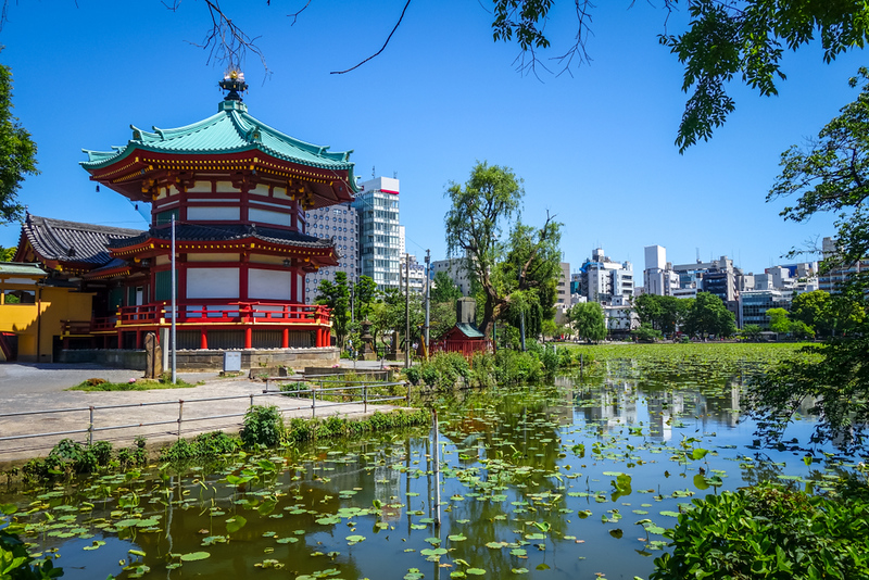 Shinobazu pond and Benten Hall Temple