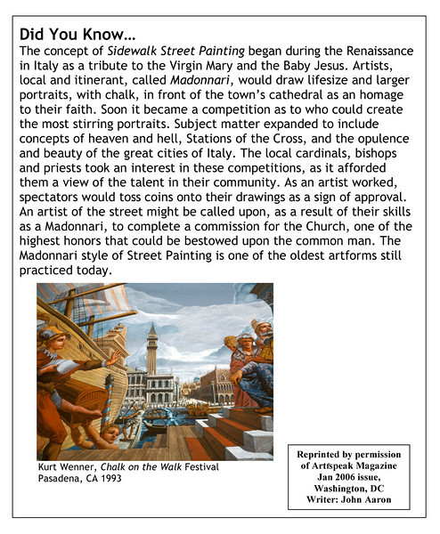 """Original article from Arfspeak,  the journal of Modern ARF, 2006 from the """"Did You Know..."""" series. writer: John Aaron artwork courtesy of Kurt Wenner"""