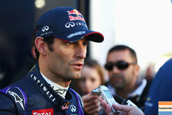 GEPA-06021399017 - FORMULA 1 - Testing in Jerez. Image shows Mark Webber (AUS/ Red Bull Racing). Photo: Getty Images/ Paul Gilham - For editorial use only. Image is free of charge