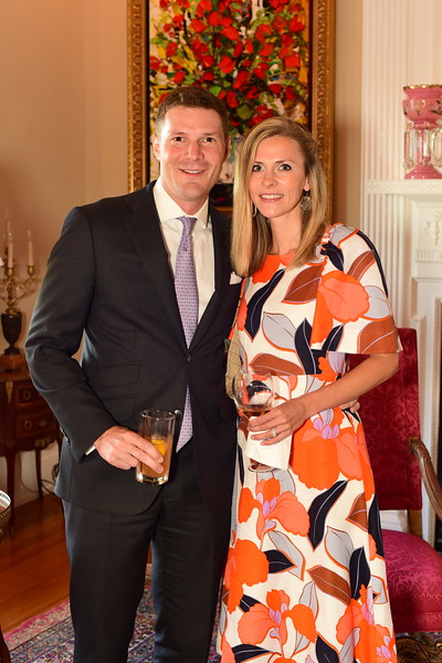 Scott and Ashley Morgenthaler, Cocktails at Selma Mansion, June 7, 2018, Nancy Milburn Kleck