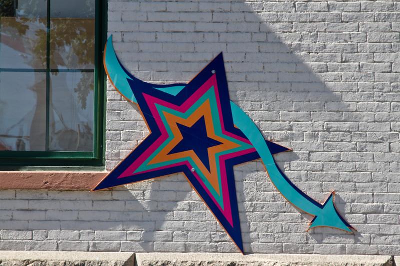 stars decorate a building in Bath