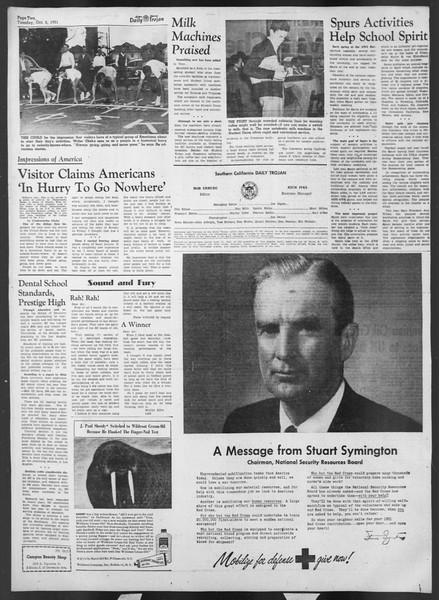 Daily Trojan, Vol. 43, No. 12, October 02, 1951