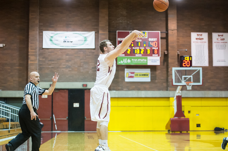 Willamette University plays Linfield College at an NCAA Men's Basketball game at the Cone Field House in Salem, Oregon on January 20, 2017 (Photo: Christopher Oertell/Willamette Athletics)