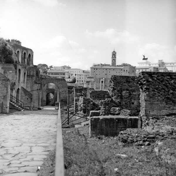 Architecture in the Roman Forum 2:Italy beyond 70mm. Photographs taken on 80mm (Medium format film)