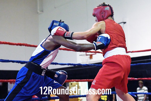 Bout #3:  John Savilla, Red Gloves, West Virginia  -vs-  Jason Rioley, Blue Gloves, Cleveland, OH