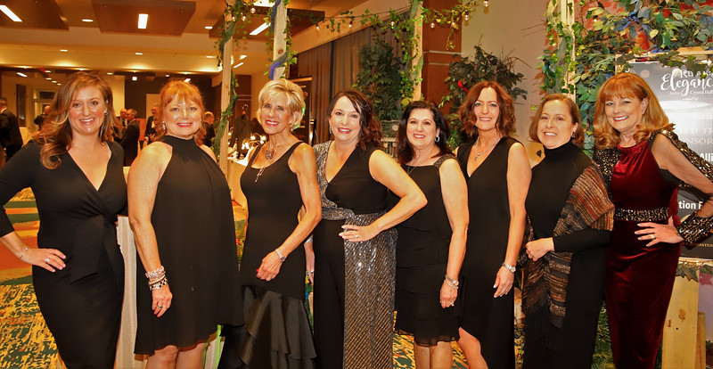 Crystal Ball Committee (left to right): Alicia Palmiero, Jan Nieto, Jocelyn Shetter, Kris Bauser, Audray Muscatallo Yost, Kime Patterson, Carrie Bessor-Foreman, Lou Ann Rosellini.
