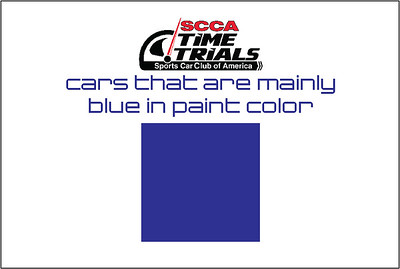 The Blue Cars of the SCCA Time Trials Event