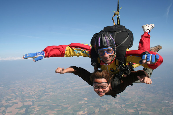 Skydiving in Spain adventure travel blogger