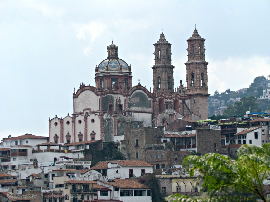 Main cathedral in Taxco, Mexico