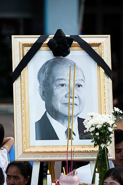 Portrait of Former King  Norodom Sihanouk in Phnom Penh, Cambodia