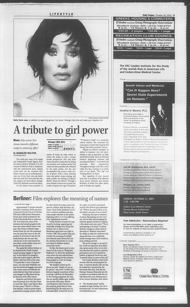 Daily Trojan, Vol. 144, No. 34, October 16, 2001