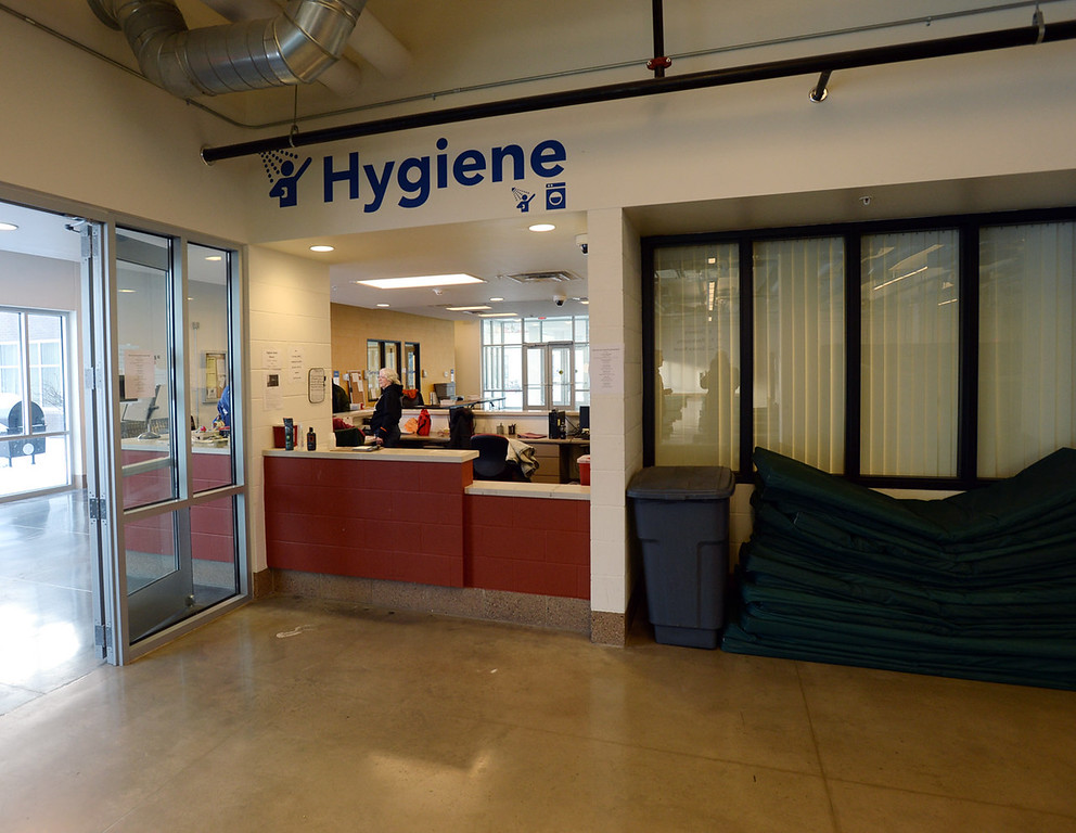 . The front desk and check-in area at Higher Ground in Minneapolis presents a clean and orderly environment for clients.  (Pioneer Press: Chris Polydoroff)