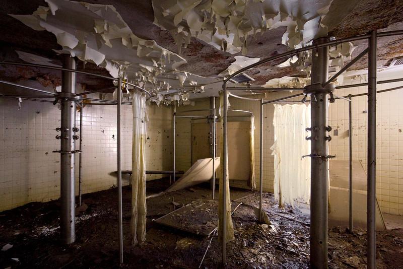 Employee shower area.