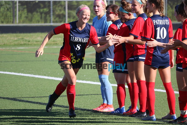 2021 Albemarle girls soccer wins Region 5D title