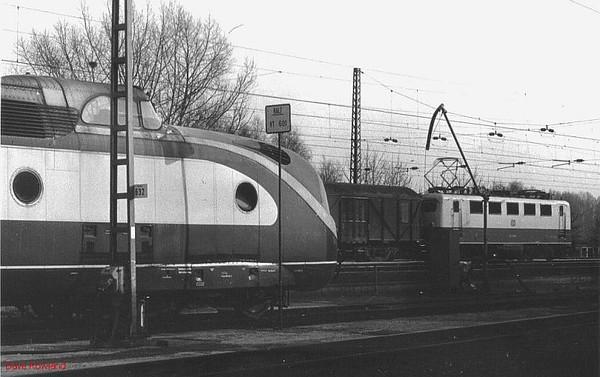 601-011, 141 090, Hamm depot, 23rd February 1990.