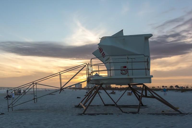 pensacola beach sunset lifeguard stand-1.mp4
