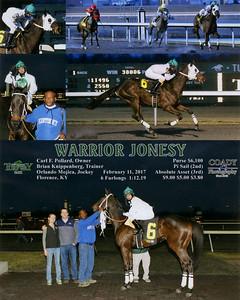 WARRIOR JONESY - 2/11/2017