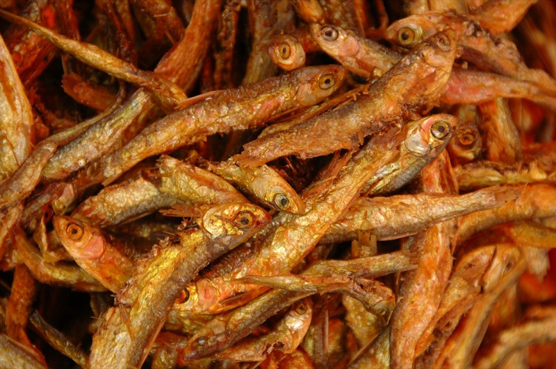 Little Fried Fish at Gedong Market - Guizhou, China