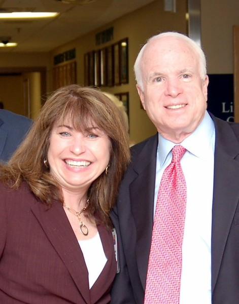 Paula Pedene with Senator McCain