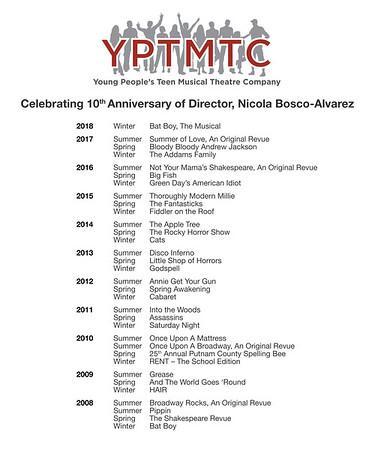 10th Anniversary Poster - Nicola