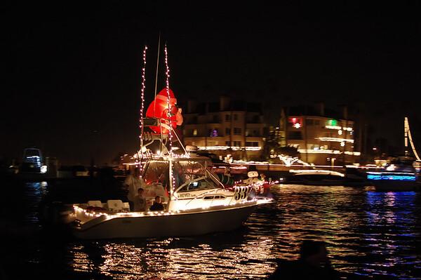 Huntington Harbor Christmas Boat Parade 2010