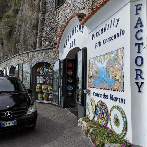 Bought ceramics near Amalfi