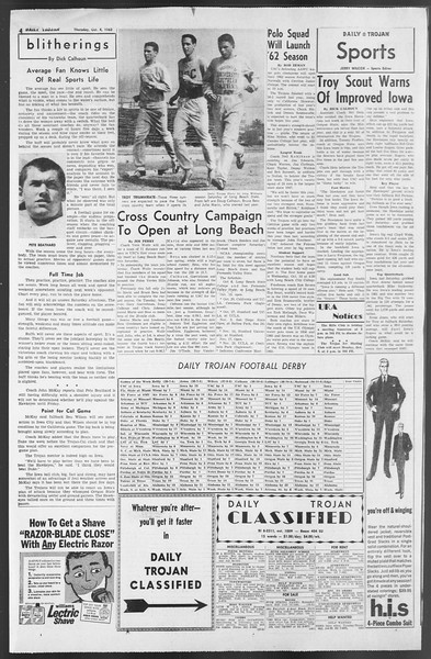 Daily Trojan, Vol. 54, No. 9, October 04, 1962