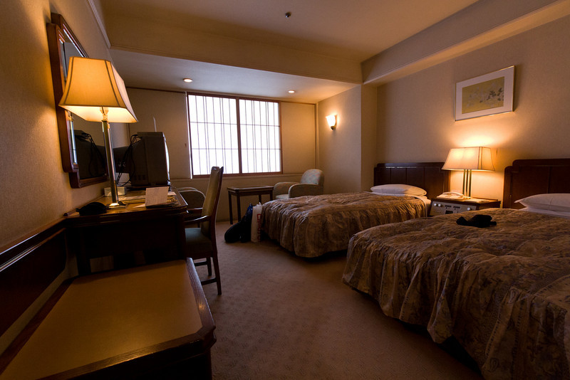 Our hotel room in the Kyoto Kokusai hotel, Kyoto