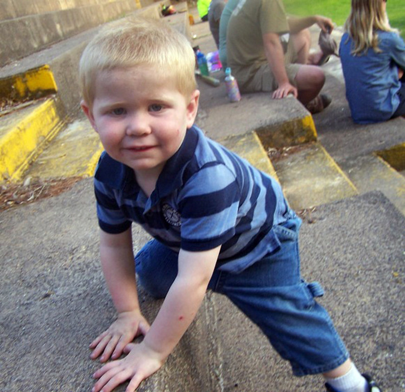 . Two-year-old Isaiah Theis went missing from the family\'s rural home near Balsam Lake, Wis., about 6 p.m. Tuesday, July 16, 2013. Dozens of law enforcement officers and volunteers searched through Tuesday night for the child. (Courtesy photo)