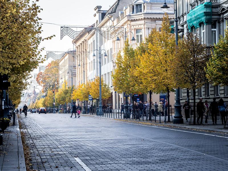 Street in Vilnius, Lithuania