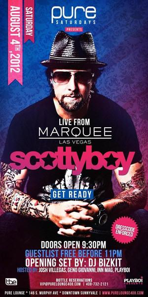 8/4 [DJ Scottyboy Live@Pure Lounge]