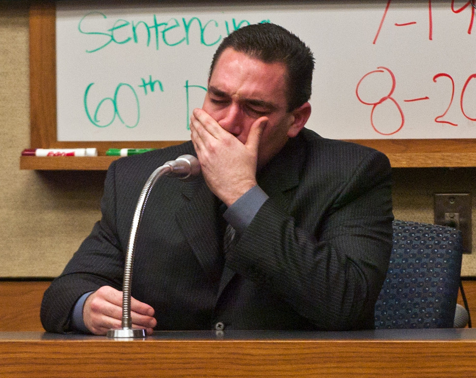 . Anthony Orban a former Westminster police detective broke down while on the stand. Orban who blamed the antidepressant Zoloft for his behavior took the stand in a West Valley Superior Court in the sanity portion of his trial.  (Staff photo/Inland Valley Daily Bulletin)