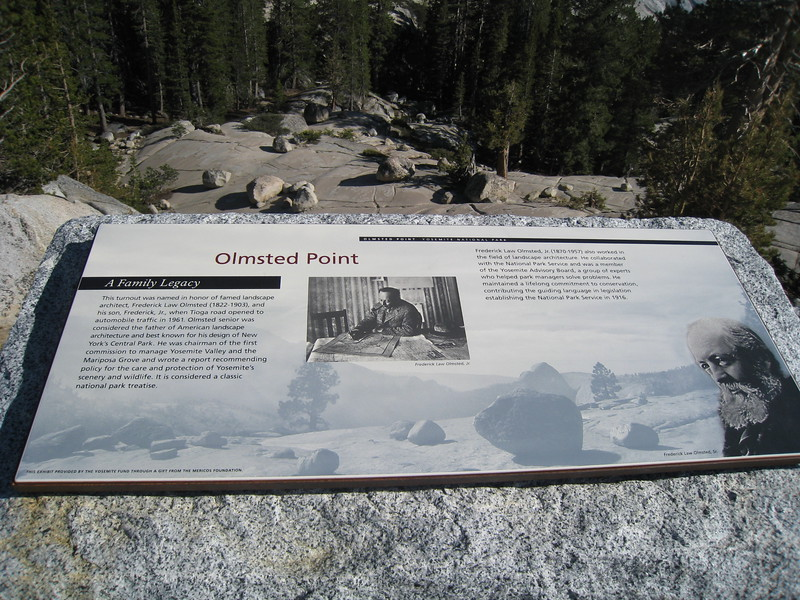 Olmstead Point Sign