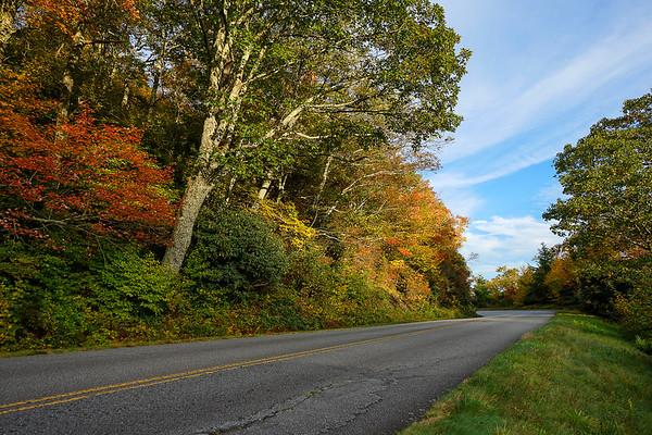 Blue Ridge Mountains In Autumn