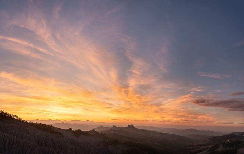 Sunset - Canossa, Reggio Emilia, Italy - October 5, 2019