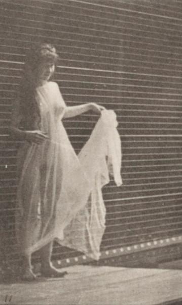 Semi-nude woman with skirt dancing